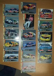 LOT OF 16 COLLECTIBLE CARDS - NASCAR DRIVIERS FROM 90th 50 NASCAR ANNIVERSARY