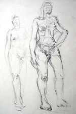 Lubomyr Mudretzkyj 1927-2001 Wien Zeichnung-2 weiblicher Akt 1987 Karl Hoffmann