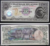 CHATHAM ISLANDS NEW ZEALAND 10 Dollars 2001 Uncirculated