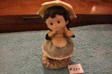 Little Girl Rainy Day Statue Ceramic Umbrella Fabulous Paperweight Item#327