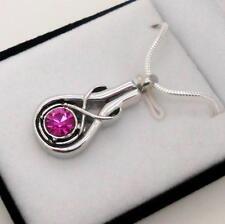 "316l Stainless ""infinity"" Memorial Keepsake Cremation Urn Pendant Jewellery"