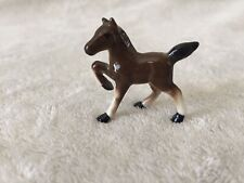 Vintage Miniature Hagen-Renaker Mini Black & Brown Horse~Ceramic Colt*Stallion