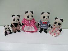 Sylvanian-Panda familia con bebé