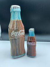 Coca Cola Blechdosen 2 Stück 14,5 + 24 cm. Top Zustand