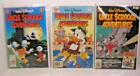 VINTAGE WALT DISNEY'S UNCLE SCROOGE ADVENTURES LOT OF(3) GLADSTONE COMICS
