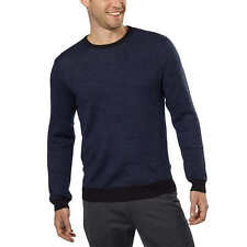 Calvin Klein Men's Italian Yarn Merino Wool Blend Crew Neck Sweater, Size L