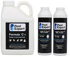 Pest Expert Strong Bed Bug Killer Spray 5L& Bed Bug Control Treatment Powder x 2