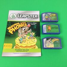 LeapFrog Leapster Learning With Leap Classic PLUS 2 Extra Fun Learning Games. B1