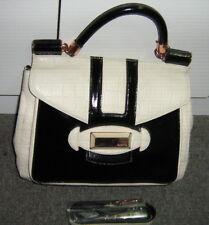 Fantastic LARGE MIMCO  Satchel, Messenger, hand/shoulder bag, Black and Beige