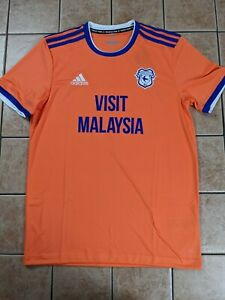 Cardiff City FC 20/21 Third Replica Blank Jersey Adidas Men's Orange NWT