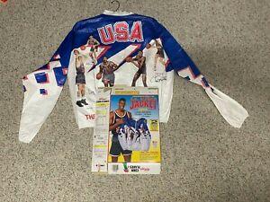 1992 USA Olympic Dream Team Kellogg's Cereal Basketball Jacket LRG & Box - Bird
