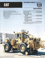 Equipment Brochure - Caterpillar - 518 - Series Ii Railcar Mover - 1991 (E2384)