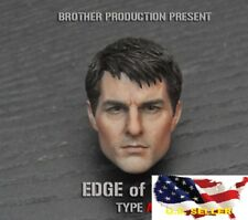 1/6 Tom Cruise Head Sculpt Edge of Tomorrow / Hot Toys Phicen Figure ❶US SELLER❶