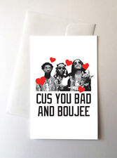 2 Pack -Migos Valentines Day Love Greeting Cards