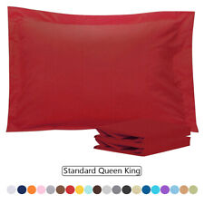 Pillow Shams Standard Queen King Size - Double Brushed Microfiber - Set of 2