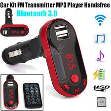 Bluetooth Wireless FM Transmitter Car Kit MP3 Player Handsfree USB TF SD Remote