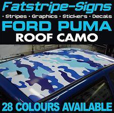FORD Puma TETTO CAMO grafica Adesivi Strisce Decalcomanie Mimetica Zetec SE 16 V 1.6