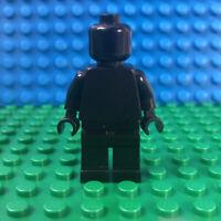 Lego Solid Black Minifigure Monochrome Blank