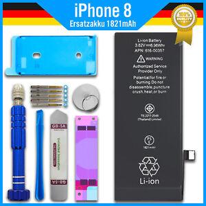 Ersatz Akku für Original Apple iPhone 8 - 1821mAh Accu Battery + Werkzeug