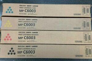Genuine Ricoh Savin Lanier Toner 1 SET MP C6003 MP C5503 MP C4503 MP C6004