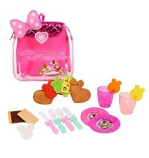 Minnie Mouse Picnic Backpack kitchen 20 pc Play Food Disney Junior Happy Helpers