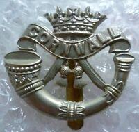 VINTAGE Duke of Cornwall's Light Infantry Cap Badge WM Slider ORIGINAL