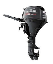 "10hp Suzuki Outboard DF9.9AEL - 4-Stroke, 20"" Shaft - Electric - Tiller Handle"