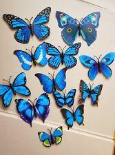 3D butterfly art decor PVC butterflies mural wall sticker with magnet 12pcs