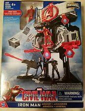 Marvel Iron Man Armory Civil War Captain America Miniverse Playset