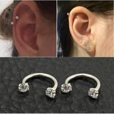 1pcs Fashion Stainless Steel Piercing Lip Eyebrow Ear Septum  Hoop Ring Jewelry