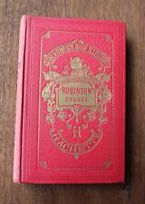 1933 Robinson Crusoé Foë Bibliothèque rose illustré livre enfant