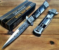 Tac-Force Spring Assisted Stiletto Punisher Logo knives Pocket knife W/ Clip