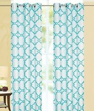 """2 piece Galaxy Turquoise Grommet Thermal Blackout Heavy Window Curtain Panel 84"""""""