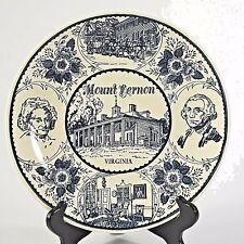 Vintage Enco National Mount Vernon Virginia Ironstone Souvenir Plate