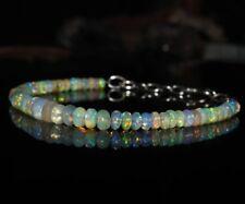 Natürliche äthiopische TOP-Qualität Opal Edelstein Armband 925 Silber Verschluss