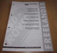 Einbauanleitung Land Rover Freelander Fahrscheinwerfer Rammschutz Scheinwerfer!
