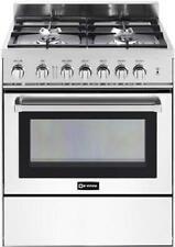 "Verona Vefsgg304Nw 30"" 4 Burner Gas Range Single Oven White"