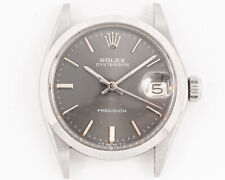 Vintage 1974 Rolex Stainless Steel Oysterdate Ref. 6466 w/ Gray Dial!