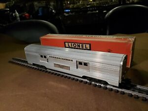 Lionel Pre War O Gauge # 2530 Aluminum REA Baggage Car, In VGC, Org Box 1954/60