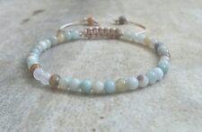 Amazonite Gemstone Beaded Bracelet Stacking Adjustable Friendship Surfer