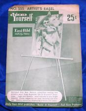 UNUSED VTG  EASI BILD DIY WOODWORKING CRAFT PATTERN 555 Artists Easel