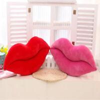 Rote Lippen Form Sofa Kissenbezug Baumwolle Mode Wurf Kissenbezug Home Decor