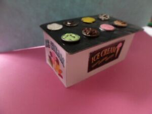 Ice Cream Counter  and Posters 1:12 dollhouse miniatures Gailslittlestuff