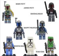 White Boba Fett Mandalorian Jango Fett Star Wars Series Custom Lego Minifigures