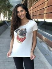 Womens Organic Tee Shirt Pug TShirt Vegan TShirt  Christmas Gift