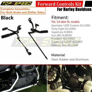 Forward Controls Pegs Levers Linkages Kit For Harley XL Sportster 1200 883 14-18