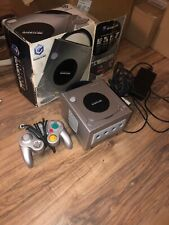 Nintendo Platinum Gamecube Console with wired controller & box -