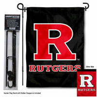 Rutgers University Scarlet Knights Garden Flag and Stand Pole Kit