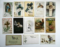 LOT OF  26  EASTER GREETINGS ANTIQUE  POSTCARDS