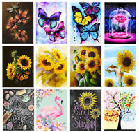 Painting Diamond Kits Flowers 5D Full Drill Embroidery Cross Stitch Butterfly